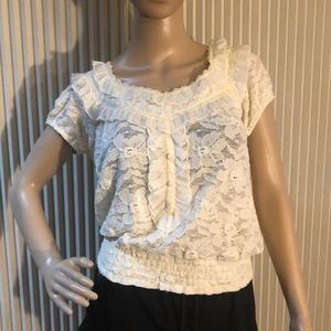 Beautiful off white lace top